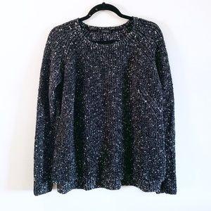 Ann Taylor | Chunky knit Wool Blend black sweater